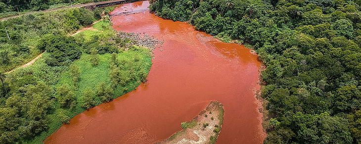 Rio Paraopeba, em Brumadinho