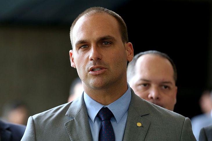 Eduardo Bolsonaro foi indicado pelo pai, presidente Jair Bolsonaro, para embaixador do Brasil nos Estados Unidos