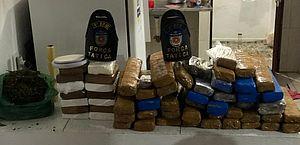 Homem é preso com mais de 50 quilos de drogas no bairro São Jorge