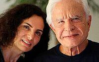 Fátima Sampaio e Cid Moreira em foto do Instagram; mulher do jornalista vira alvo na Justiça