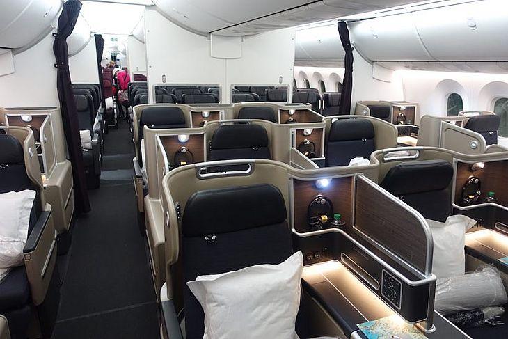 Classe executiva do Dreamliner da Qantas