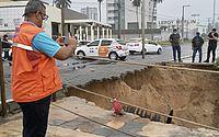 Chuva abre cratera em Cruz das Almas; Defesa Civil está em atenção