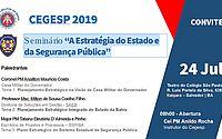 'Estratégia do Estado e da Segurança Pública' é tema de seminário do Cegesp 2019 na Bahia