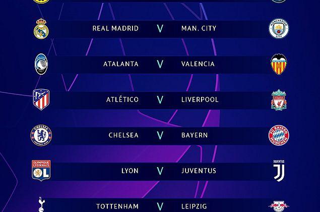 Oitavas de final da Champions League começam nesta terça