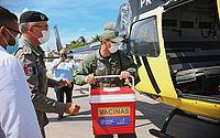 Aeronaves do Grupamento Aéreo transportam vacinas para hospitais de Porto Calvo e Arapiraca