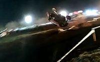 Caio Castro sai ileso após capotar carro no Rally dos Sertões