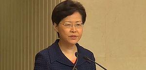Hong Kong: protestos obrigam presidente a discursar a portas fechadas