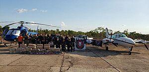 PI: Helicóptero, avião e 1 tonelada de cocaína são apreendidos em operação