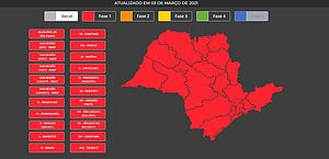 Governo de SP coloca todo estado na fase vermelha da quarentena a partir de sábado