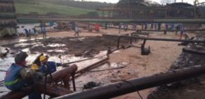 Rio Jequiá é atingido por derramamento de melaço em Campo Alegre