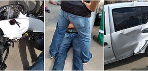 Motociclista fica ferido após ser atingido por carro em São Miguel dos Campos