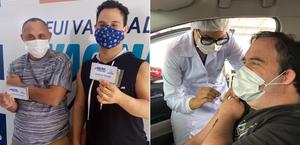 Pessoas com síndrome de Down são vacinadas contra a Covid-19 em Maceió