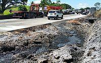 Carretas se envolvem em acidente e combustível atinge vegetação na APA de Murici