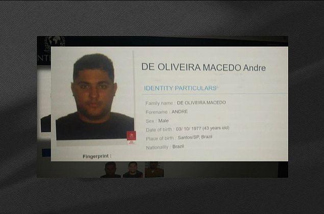 Foto de André do Rap é incluída na lista de procurados da Interpol