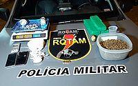 Polícia prende jovem armado e apreende três tipos de drogas em Cruz das Almas