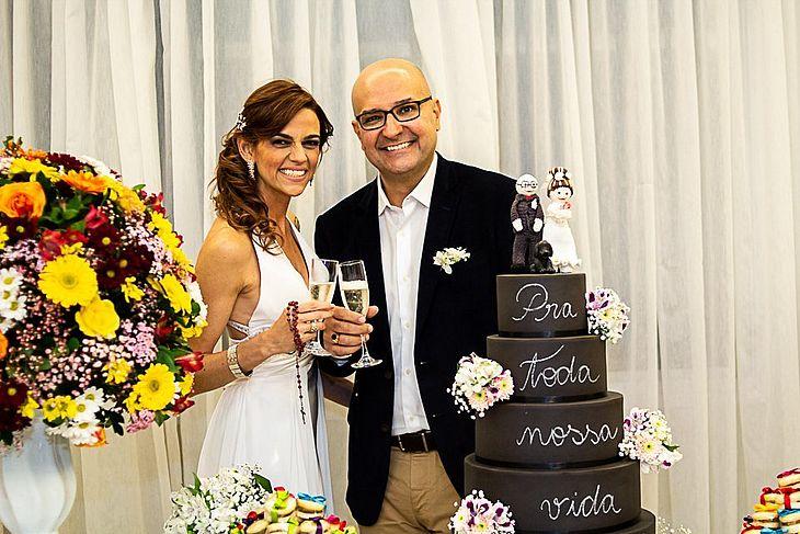 Tatiana e Augusto no casamento civil