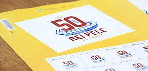 Selaj e Correios lançam selo em comemoração aos 50 anos do Estádio Rei Pelé