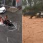 'Surf' na Jatiúca e até atoleiro: maceioense sofre com temporal