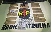 Após denúncia, militares prendem suspeito com 5,6 kg de droga e revólver em União