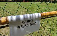 Sesc interdita campo de futebol para preservar ninho de pássaros