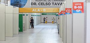 Imagens de hospital de campanha vazio circulam pela internet; Sesau explica funcionamento da unidade