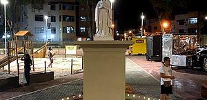 Praça na Jatiúca com nome de guerreira quilombola passa a se chamar Nossa Senhora Rosa Mística