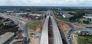 Obra do Viaduto da PRF entra em fase final; governador estima data para liberação parcial