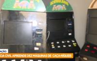 Polícia apreende dez máquinas caça-níqueis na Levada