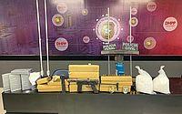 'Arma de guerra', pasta base de cocaína e maconha são apreendidas em casa que servia para refino de drogas