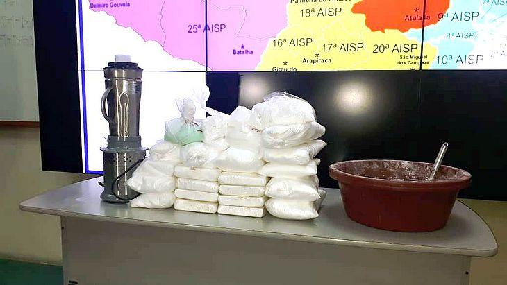 Cocaína apreendida em operação no Agreste