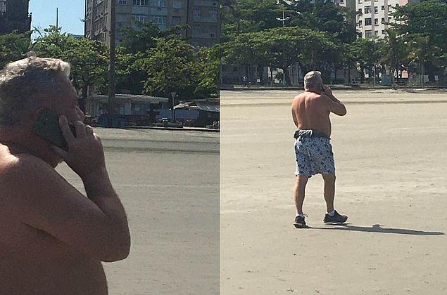 Desembargador volta a sair sem máscara e ironiza guardas: 'Poluem a praia'