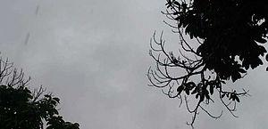 Aviso meteorológico prevê chuva moderada e possíveis pancadas intensas