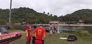 Bombeiros fazem buscas para localizar jovem desaparecido na Ilha de Santa Rita