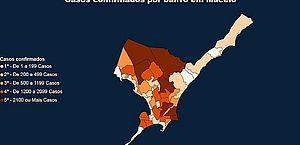 Covid: Cidade Universitária e Benedito Bentes lideram número de casos e óbitos em Maceió