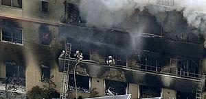 ncêndio em estúdio de animação em Kyoto