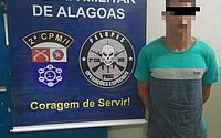Suspeito é capturado enquanto jogava partida de futebol no interior de Alagoas