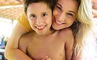 Fernanda Gentil e o filho
