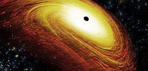 Astrônomos detectam pela primeira vez luz atrás de um buraco negro