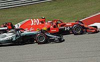 Ferrari frusta Hamilton e decisão da Fórmula 1 fica para o México
