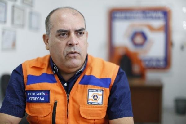 Coordenador da Defesa Civil Estadual, tenente-coronel Moisés Melo, explica que será feito um simulado com a população